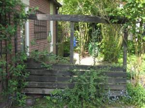 Oud tuinscherm