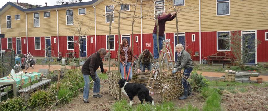 Een wilgenkoepel in uw tuin bouwen
